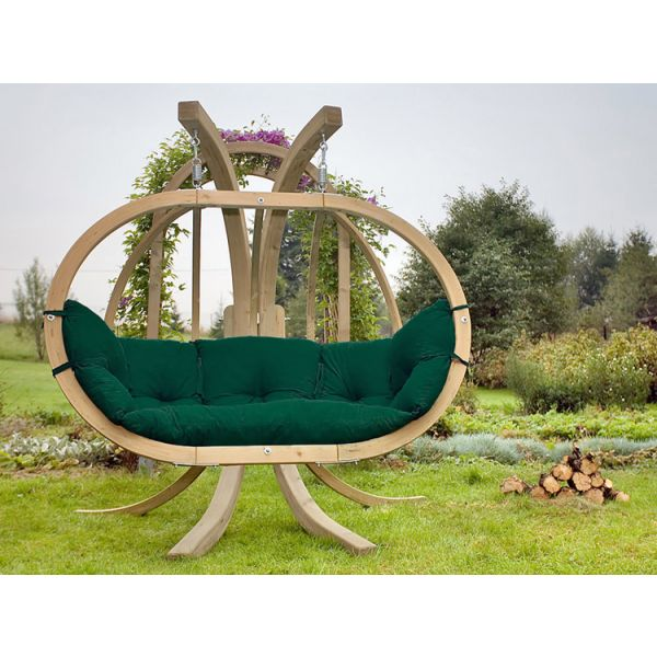'Globo Royal' Weatherproof Green Hamac Chaise