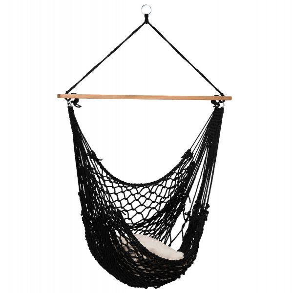'Rope' Black Hamac Chaise