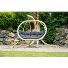 Globo Royal Anthracite Hamac Chaise avec Support