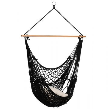 Rope Black Hamac Chaise
