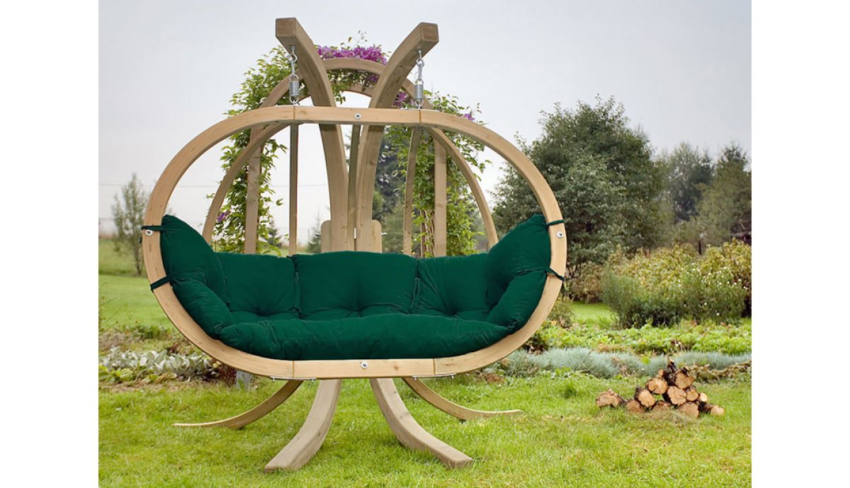 'Globo Royal' Weatherproof Green Hamac Chaise avec Support