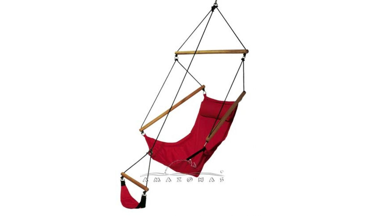 'Swinger' Red Hamac Chaise