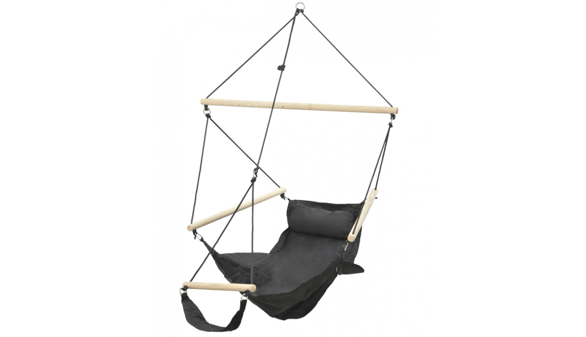 'Swinger' Black Hamac Chaise