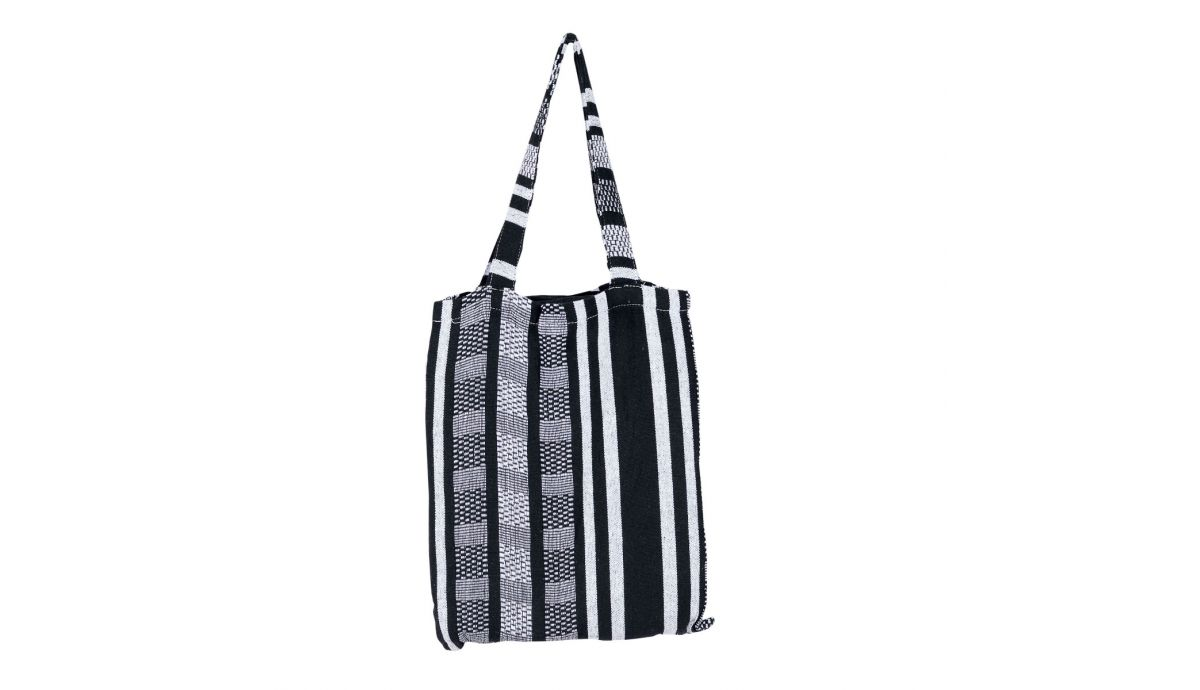 'Comfort' Black White Hamac Deux Places