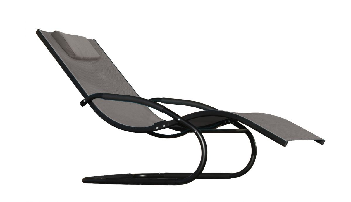 'Wave' Grey Chaise lounge