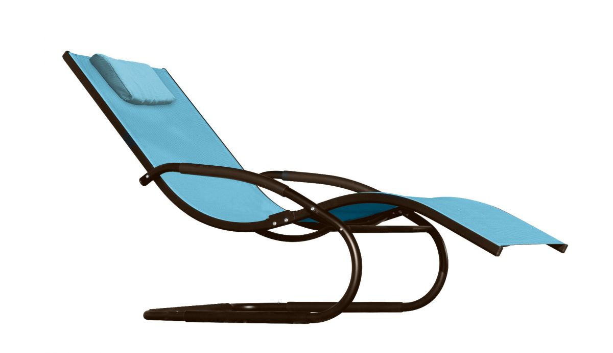 'Wave' Blue Chaise lounge