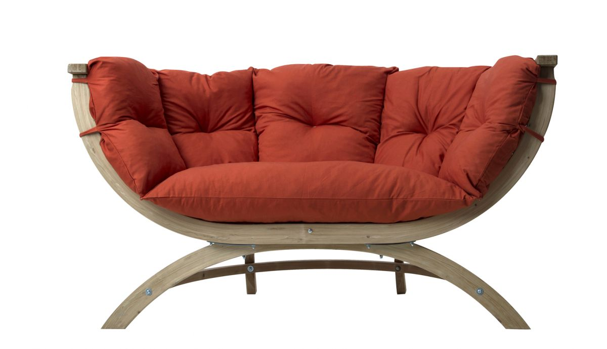 'Siena' Terracotta Chaise lounge