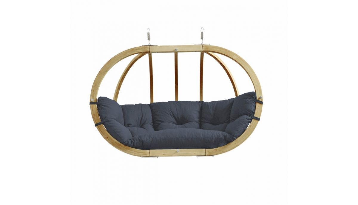 'Globo Royal' Anthracite Hamac Chaise avec Support