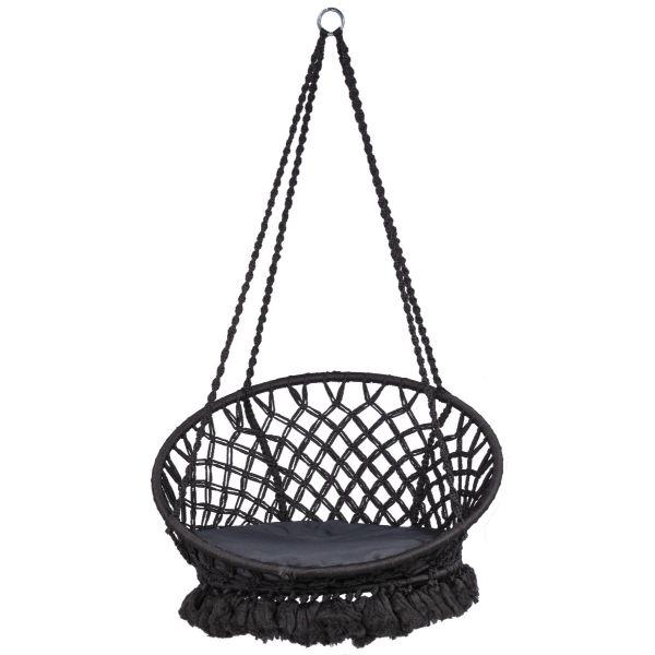 'Macramé' Black Hamac Chaise